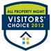 2012 Visitors Choice Award Among Property Mgmt Companies in Carolinas