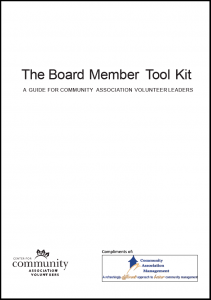 Complimentary Board Member Tool Kit Cover